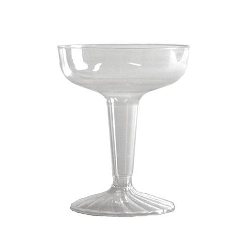 COMET CHAMPAGNE GLASS 2PC CLR 4 OZ 20/25'S