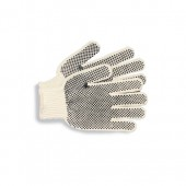 MENS PVC-DOT STR ING KNIT GLOVE LG DZ
