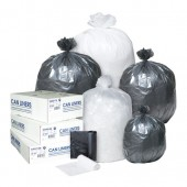 Inteplast High Density Roll Can Liner - 6 Micron - 24X33; 20 Rolls Per Case, 50 Bags Per Roll - Black 50/RL 20/CS