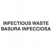LABEL BILINGUAL INFECTIOUS WASTE 7 IN X 10 IN