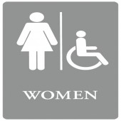 ADA SIGN, WOMEN HANDICAP-GY/WE 6X9