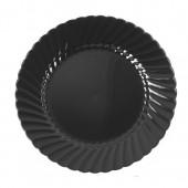 CLASSICWARE PLATE PLAS 9 IN BLA 10/18'S